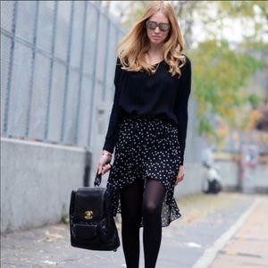 Zara high low star skirt size Medium NWT